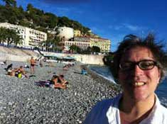 Jed on a beach in Nice
